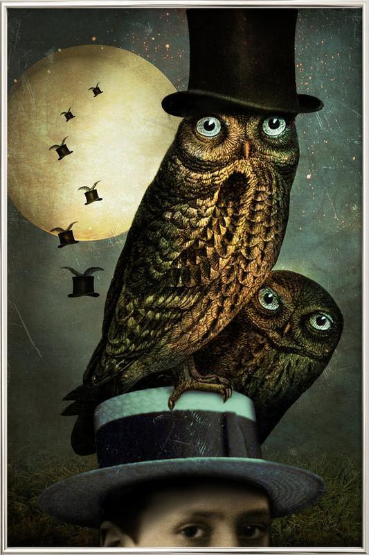 Watchout -Poster im Alurahmen