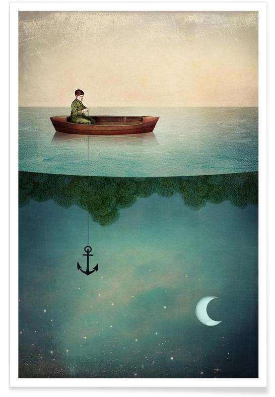 Drømmende, Børneværelse & kunst for børn, Entering Dreamland Plakat
