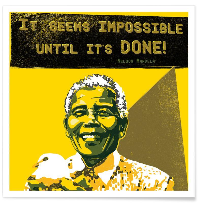 Motivational, Political Figures, Quotes & Slogans, Nelson Mandela Poster