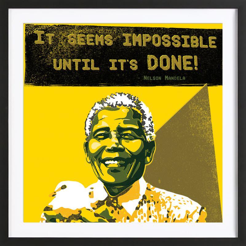 Nelson Mandela ingelijste print