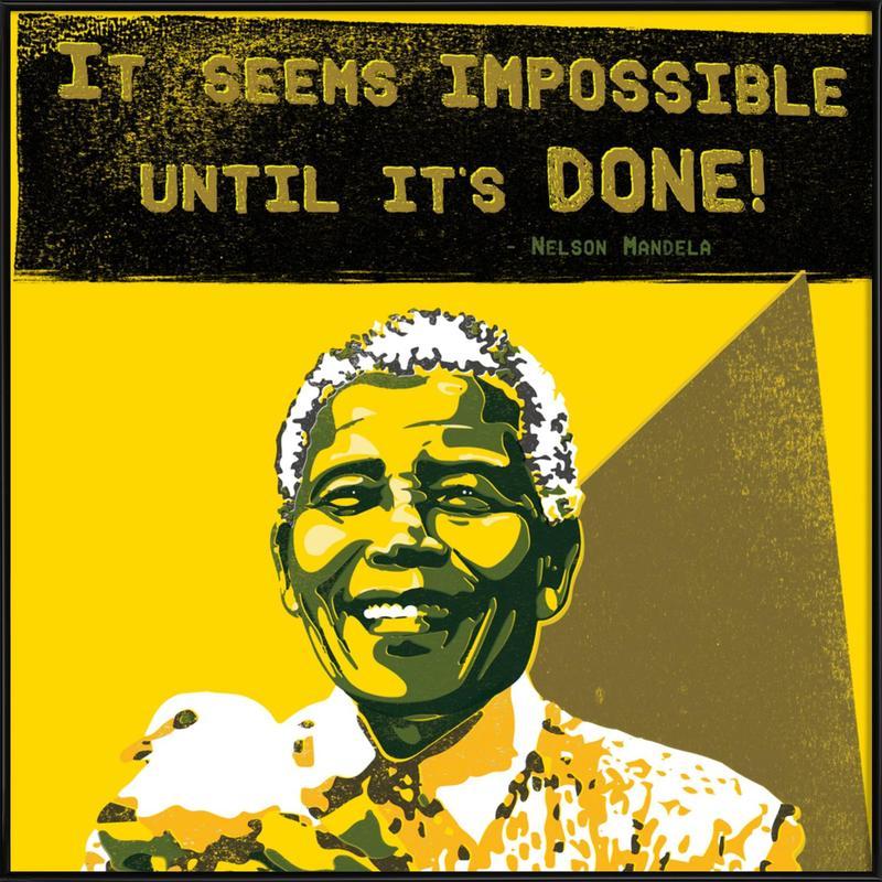 Nelson Mandela ingelijste poster