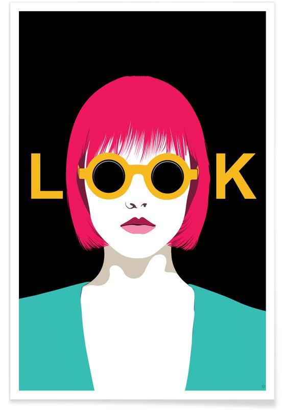 Fashion Illustrations, Portraits, Look Poster