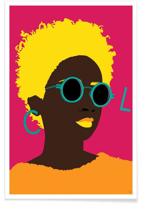 Modeillustration, Porträts, Cool -Poster