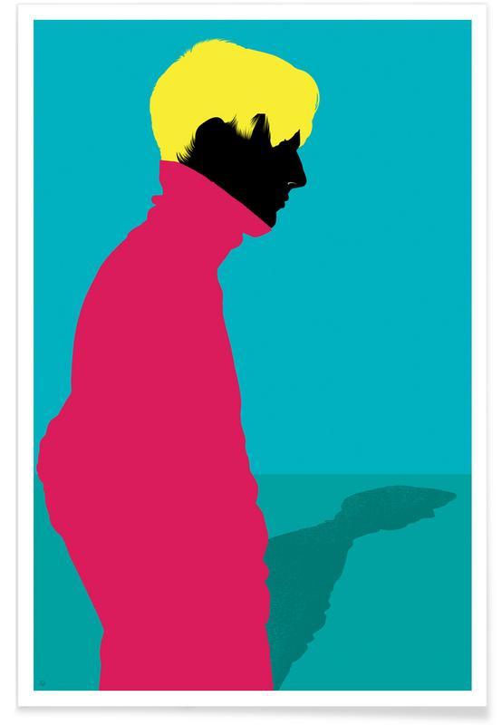 Modeillustration, Menswear 1 - Cold -Poster