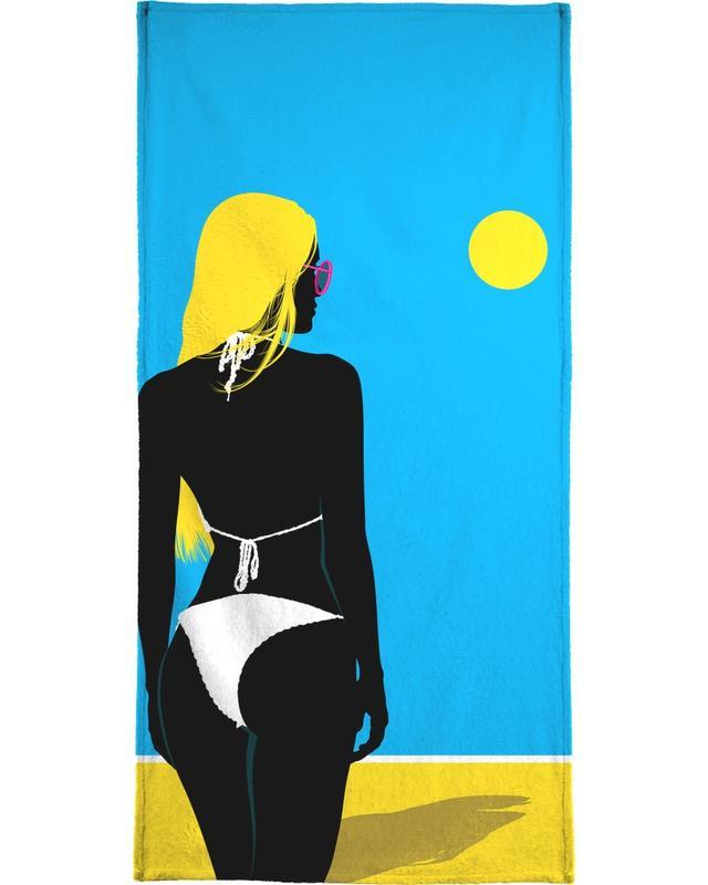 Illustrations de mode, Swimwear 3 serviette de plage