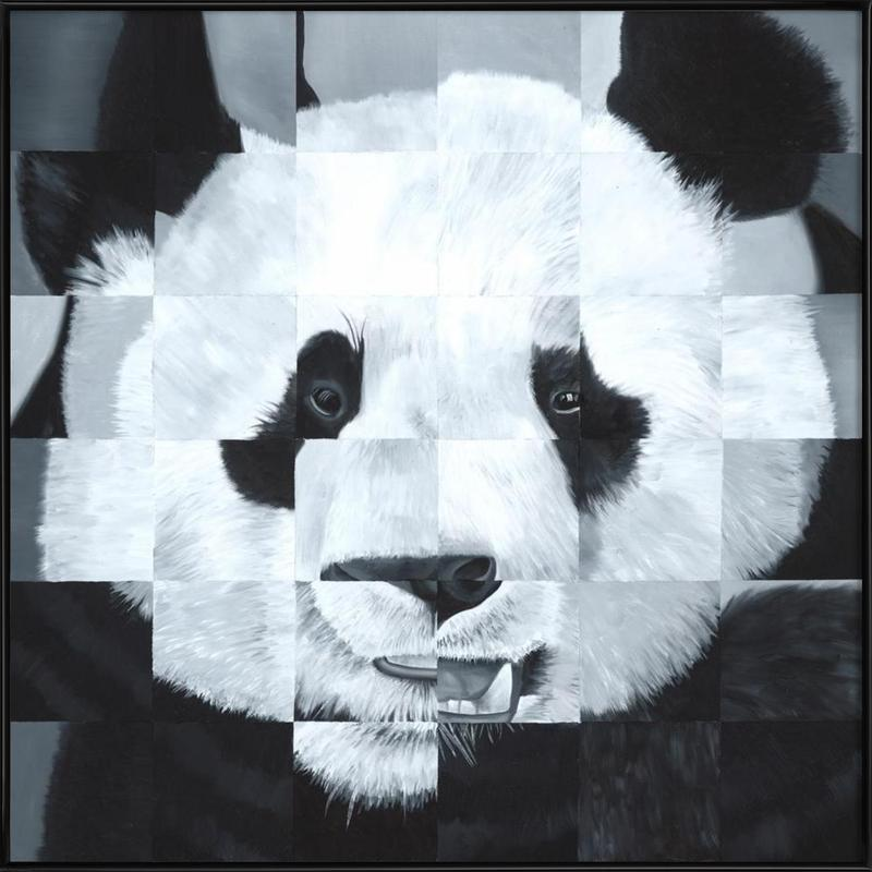 Panda -Bild mit Kunststoffrahmen