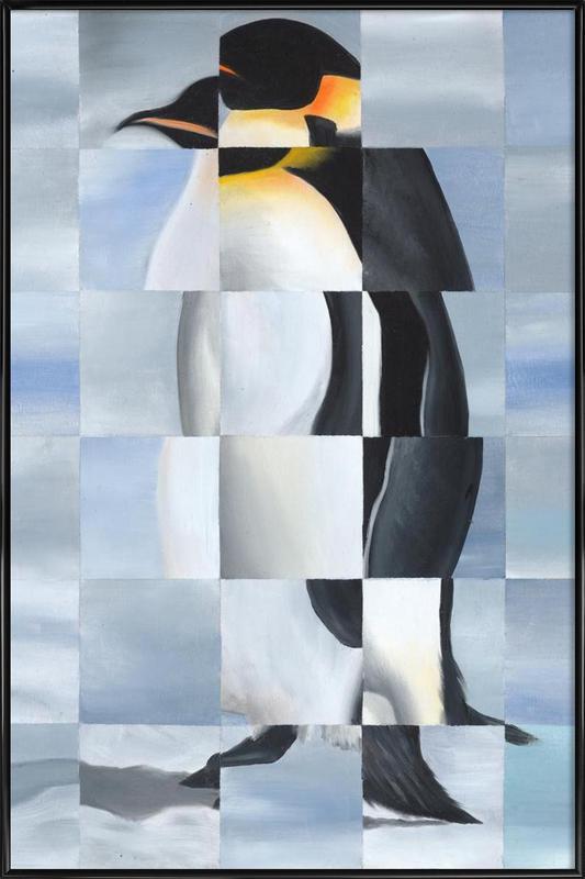 Penguin -Bild mit Kunststoffrahmen
