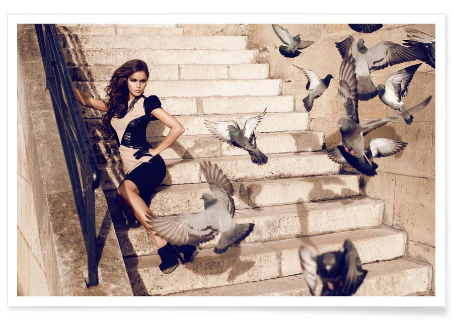 Modefotografie, Paris, Doves in Paris -Poster