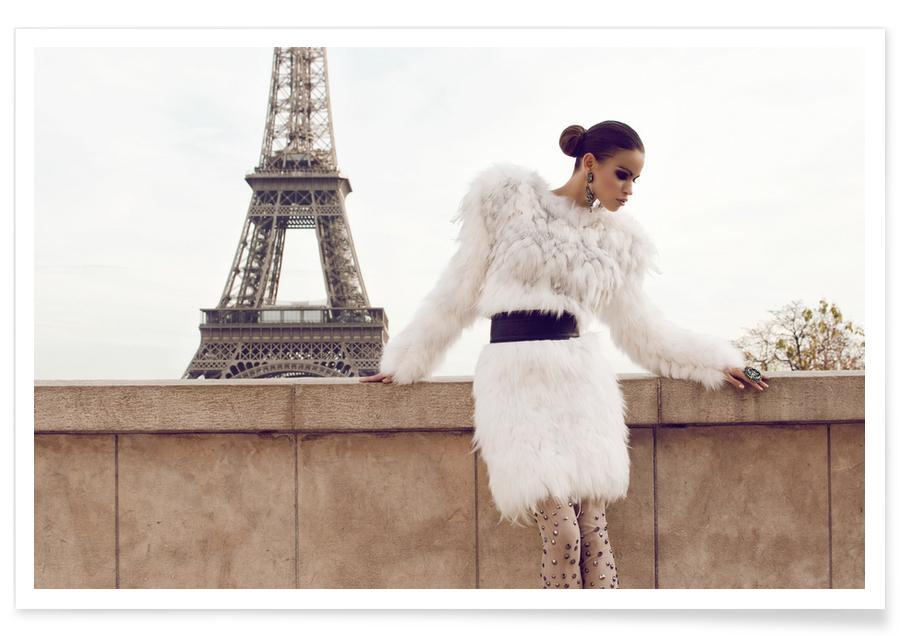 Fashion Photography, Paris, Tour Eiffel Poster