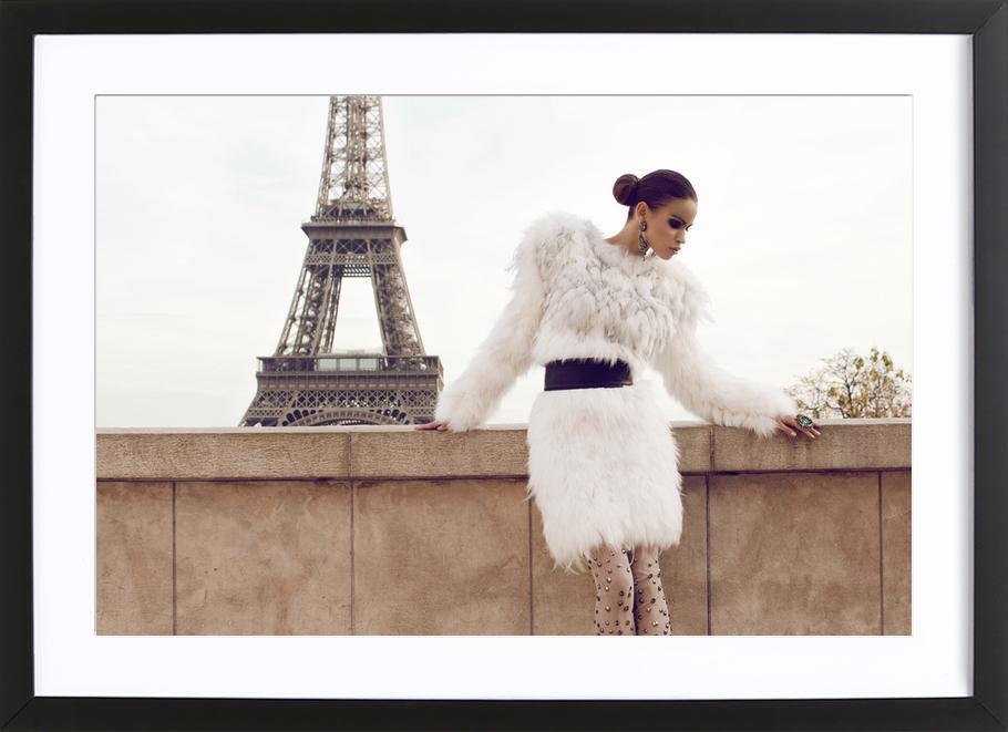 Tour Eiffel -Bild mit Holzrahmen