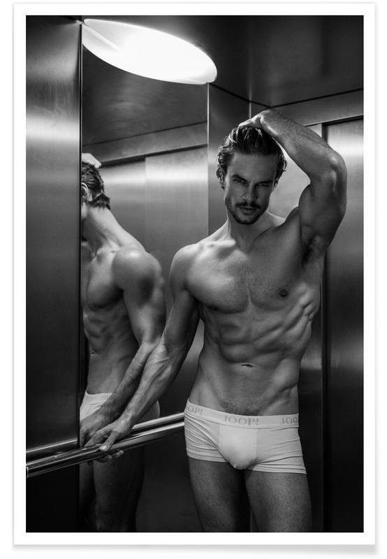 Zwart en wit, Naakt, Always Take The Elevator II poster