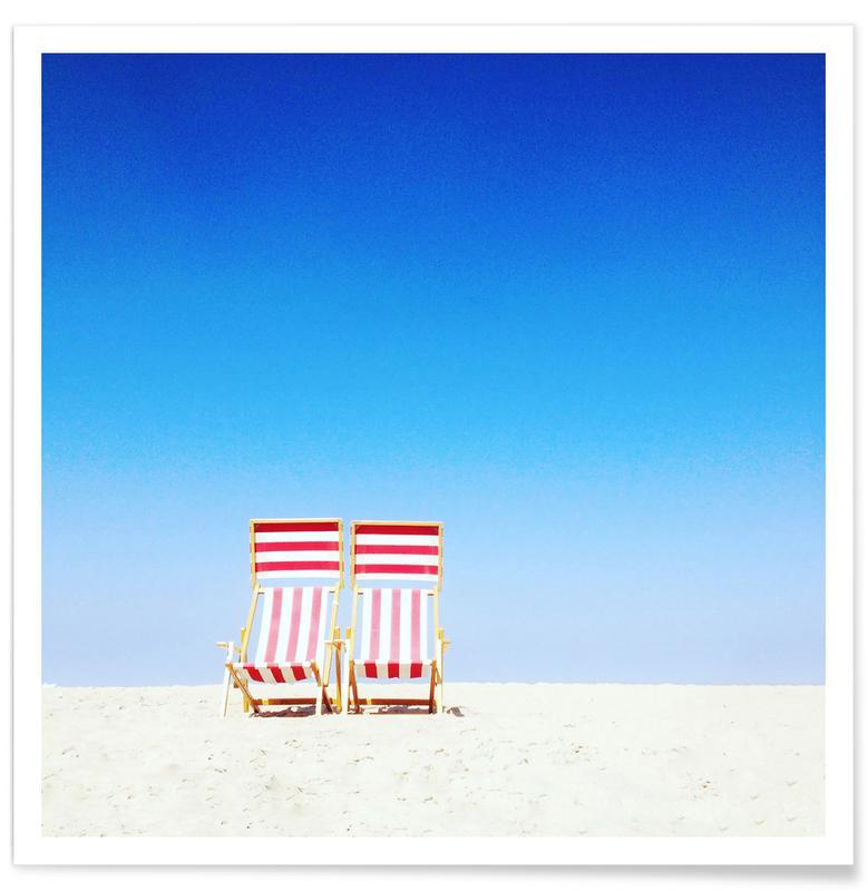 Beaches, Beach Chairs Poster