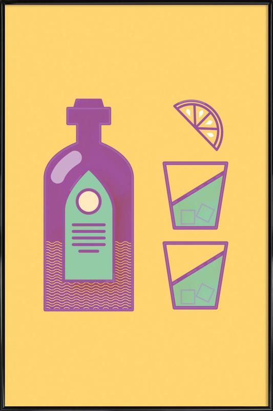 Sternschanze - Drinks -Bild mit Kunststoffrahmen
