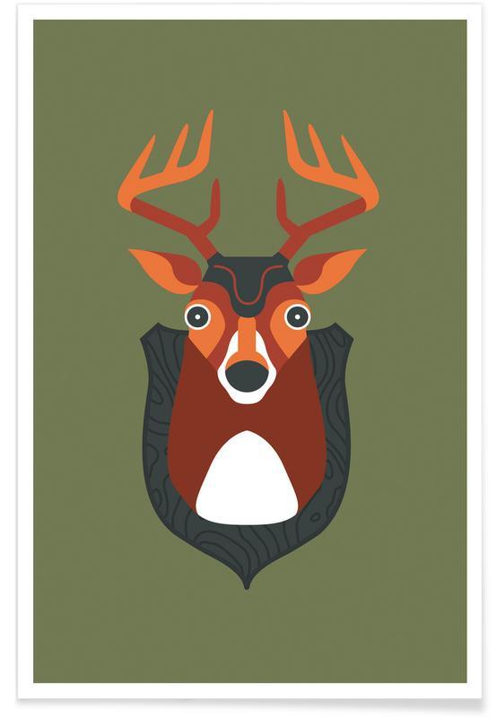 Hamburg, Herten, Blankensee - Deer poster