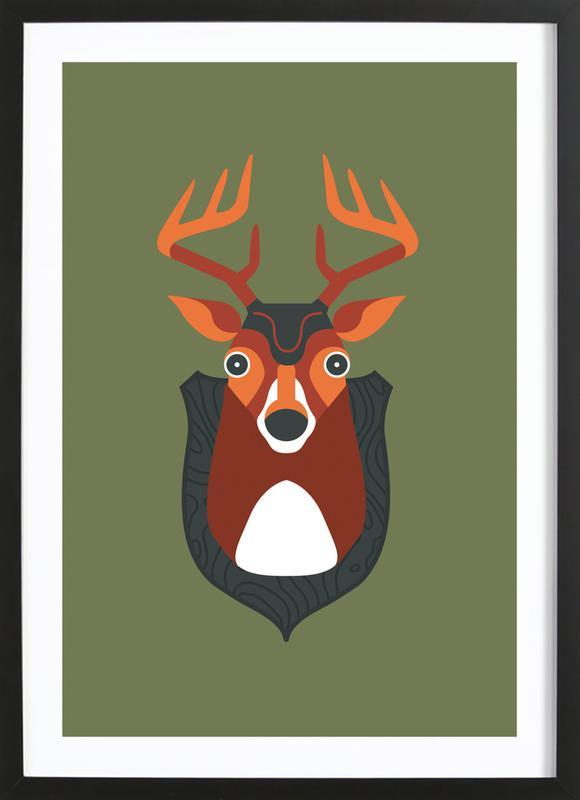 Blankensee - Deer Framed Print
