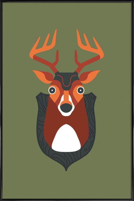 Blankensee - Deer -Bild mit Kunststoffrahmen
