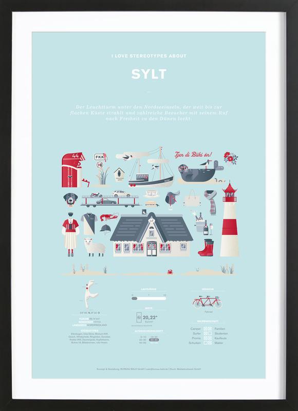 Sylt -Bild mit Holzrahmen