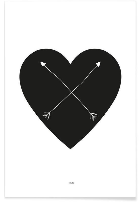 Harten, Zwart en wit, Symbolen, Heart poster