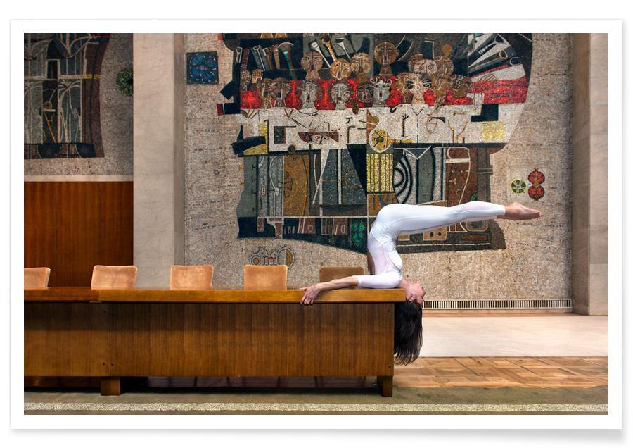 Arkitektoniske detaljer, Yoga, Belgrade #4 Plakat