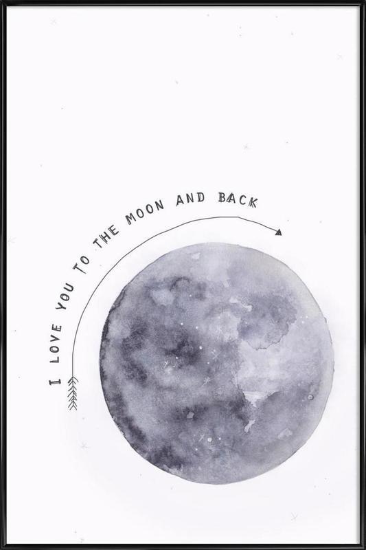 Moon -Bild mit Kunststoffrahmen