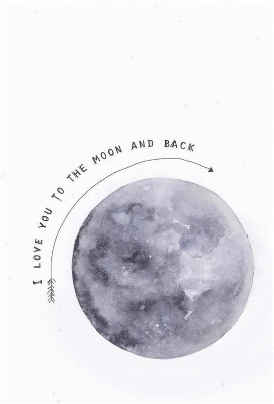Moon -Acrylglasbild