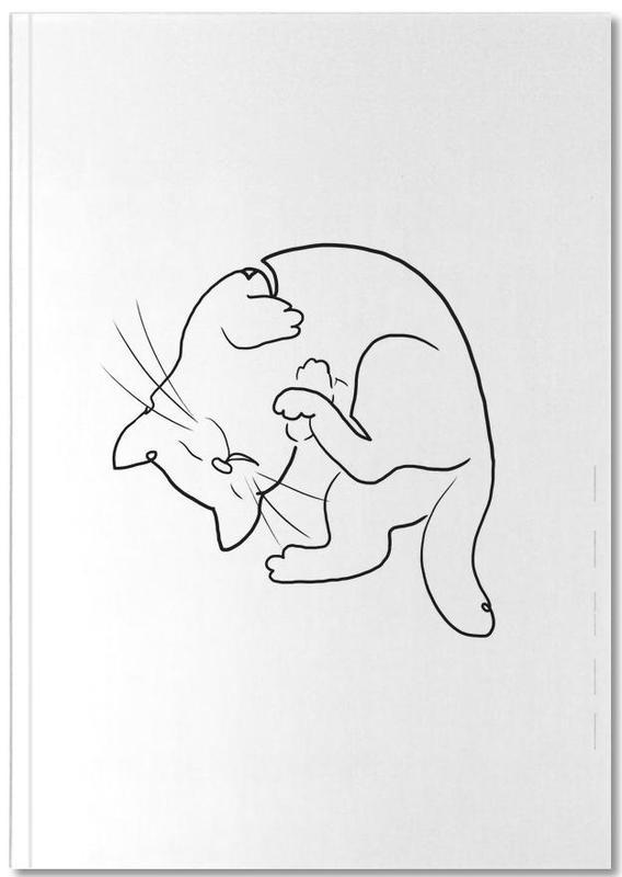 Noir & blanc, Chats, Art pour enfants, Oneline Cat Notebook