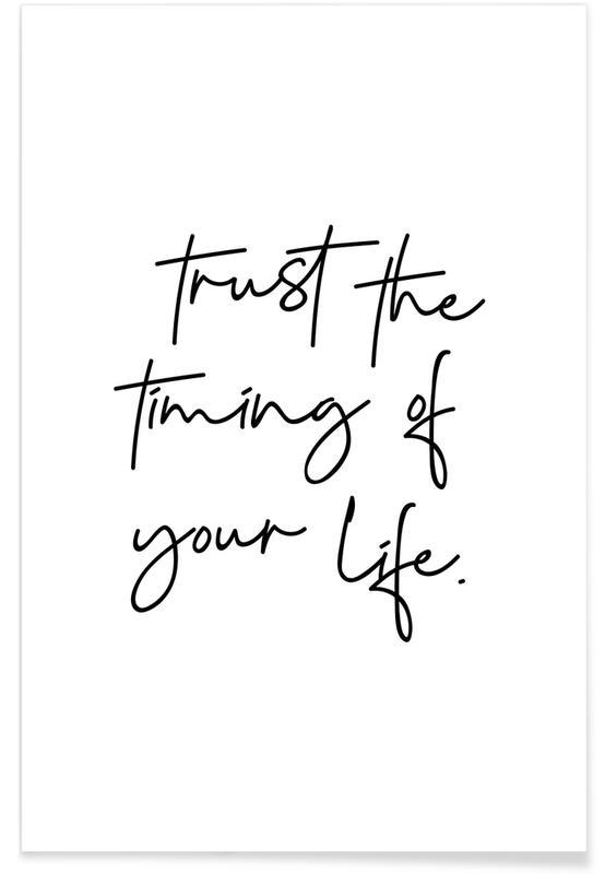Blanco y negro, Citas y eslóganes, Motivacionales, Trust póster
