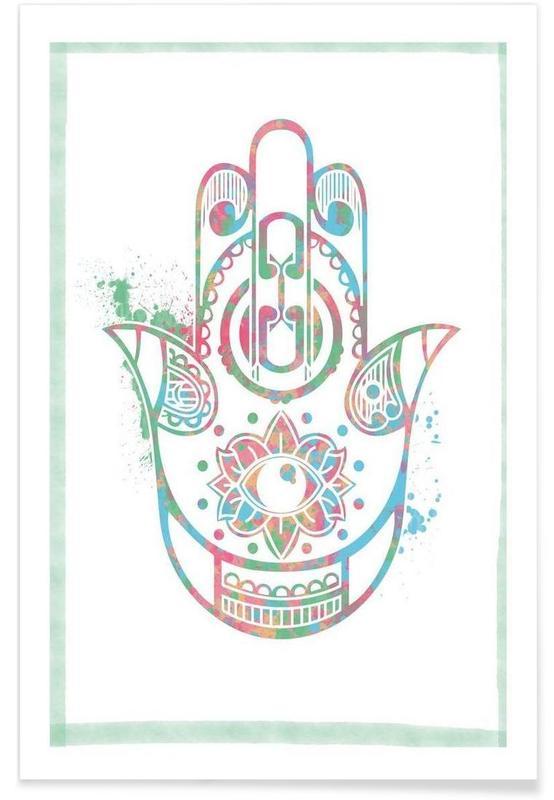 Symbole, Fatima Hand -Poster