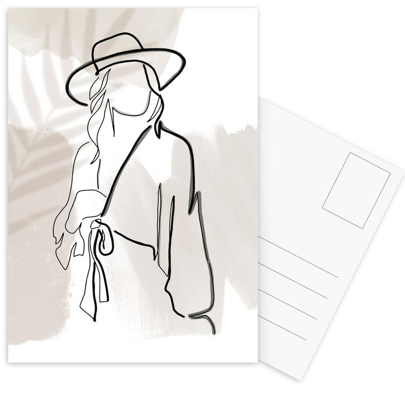 Modeillustration, Summer Lines No. 2 -Postkartenset