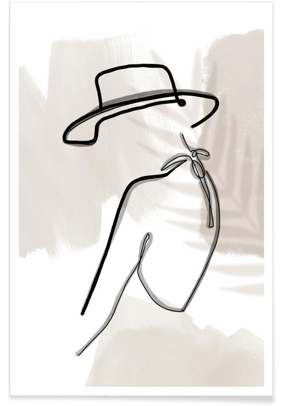 Illustrations de mode, Summer Lines No. 1 affiche