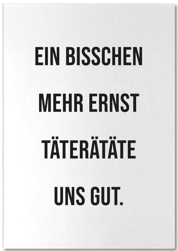 Schwarz & Weiß, Zitate & Slogans, Lustig, Motivation, Ernst -Notizblock