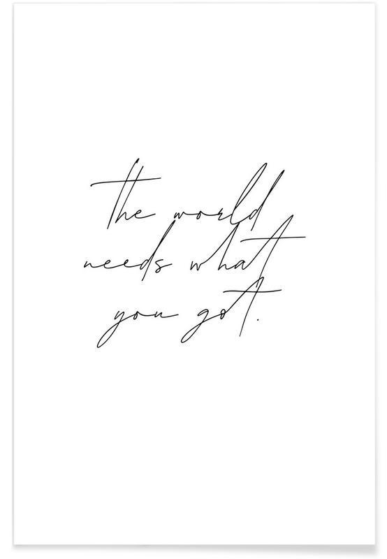 Motivation, The World -Poster