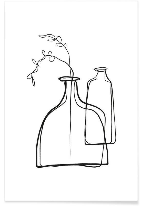 Black & White, Loose Vases Poster