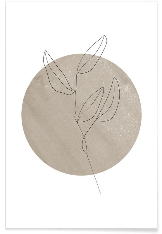 Leaves & Plants, Abstract Circle Poster