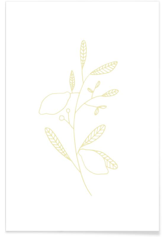 , Yellow Sketch affiche
