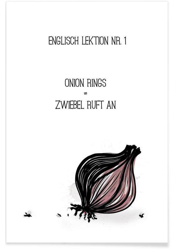 Løg, Onion Plakat