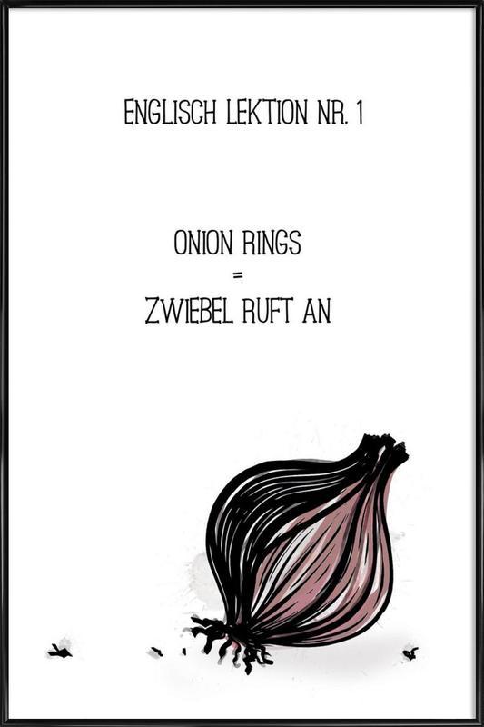Onion ingelijste poster