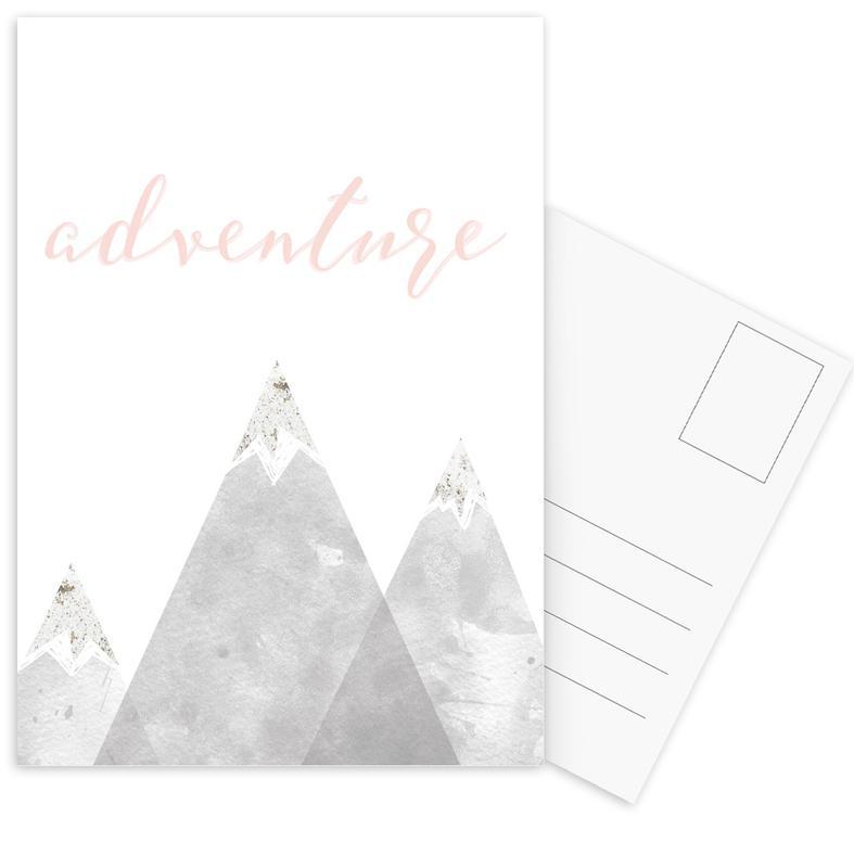 Motivatie, Bergen, Adventure ansichtkaartenset