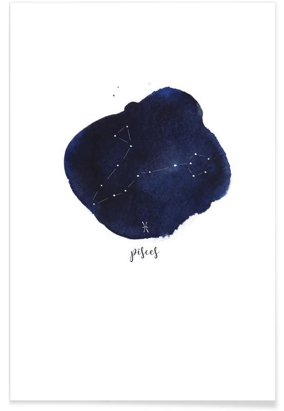Geburtstage, Pisces -Poster