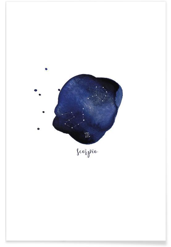 Geburtstage, Scorpio -Poster