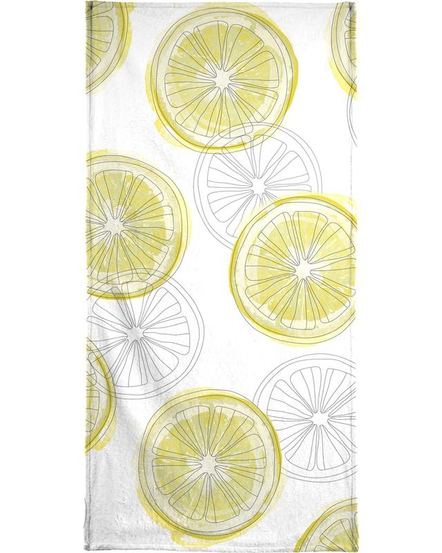 Zitrone -Strandtuch