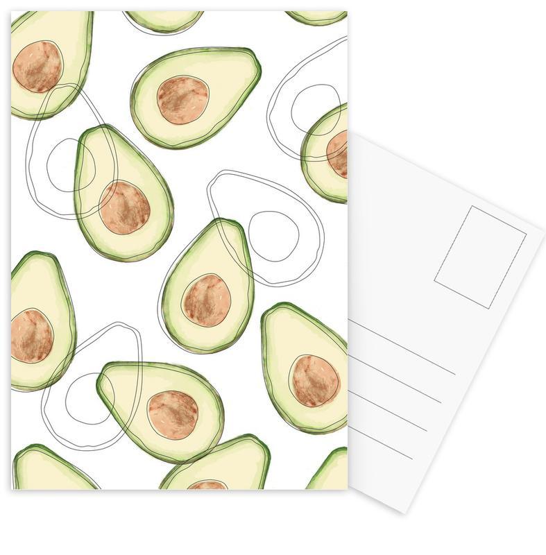 Avocado Postcard Set