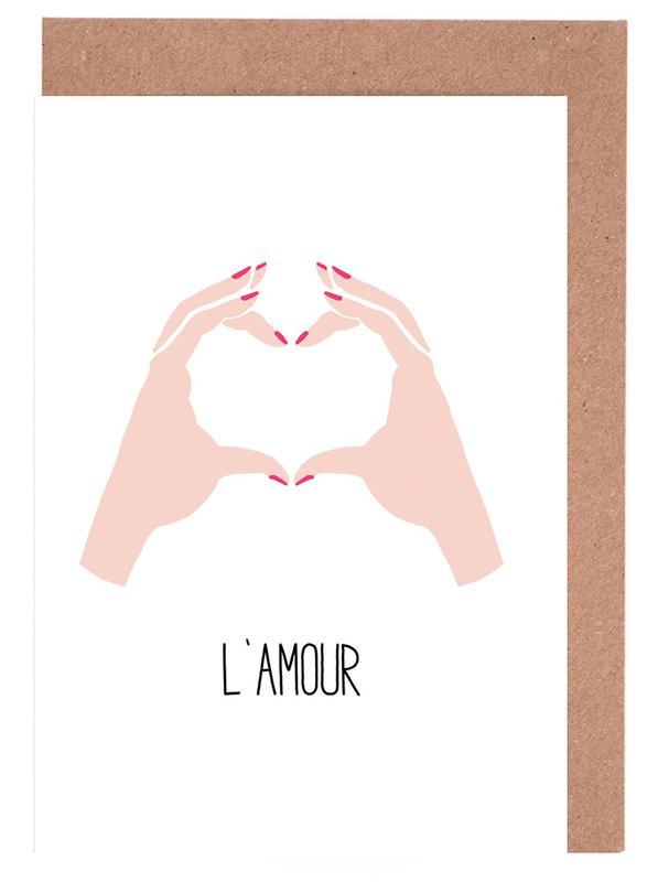 L'amour -Grußkarten-Set