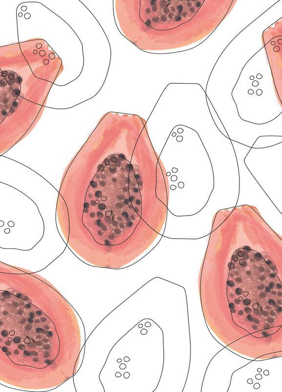Papaya -Leinwandbild