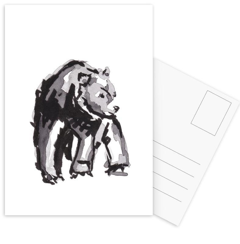 Noir & blanc, Ours, Art pour enfants, Bear cartes postales