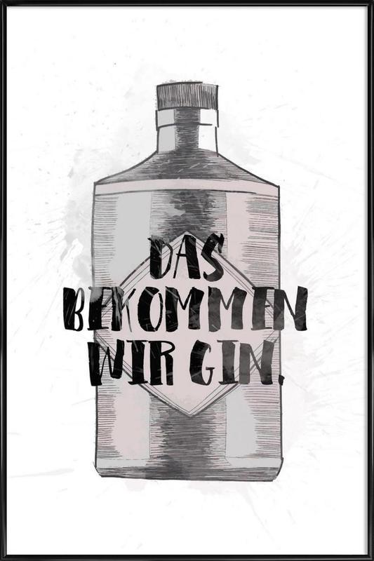 Gin -Bild mit Kunststoffrahmen