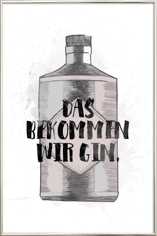 Gin Poster in Aluminium Frame
