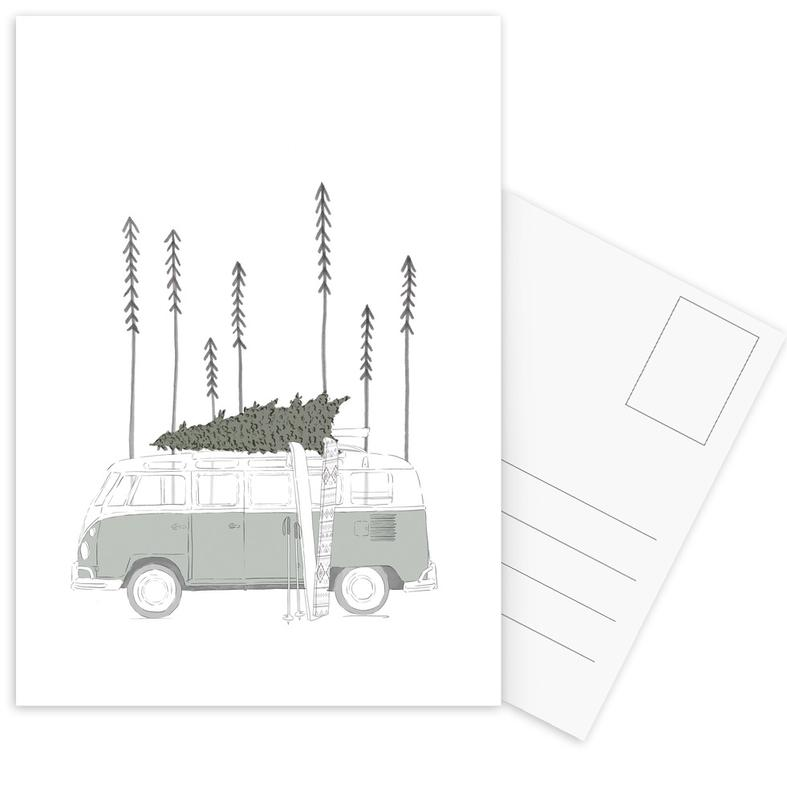 Winter Van Postcard Set