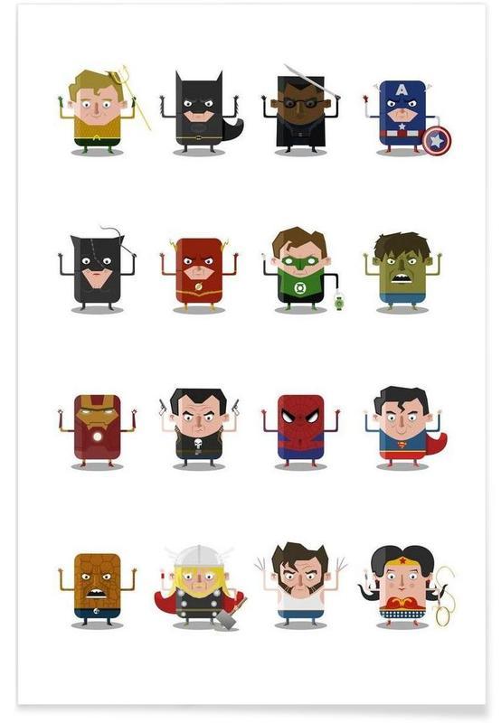 Nursery & Art for Kids, Superheroes Poster