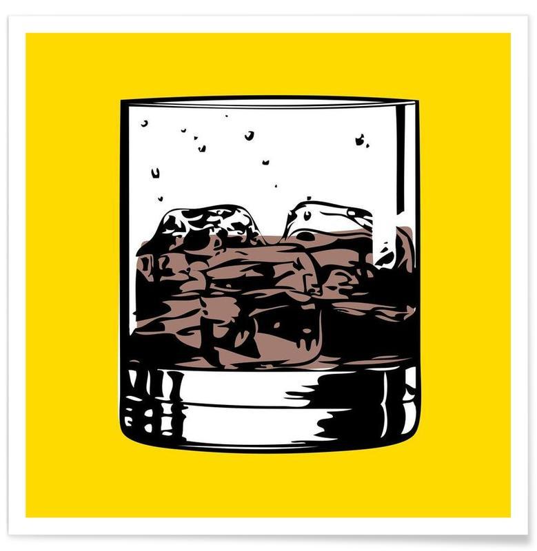 Cocktails, Pop Art, Whisky, Cocktail 4 affiche